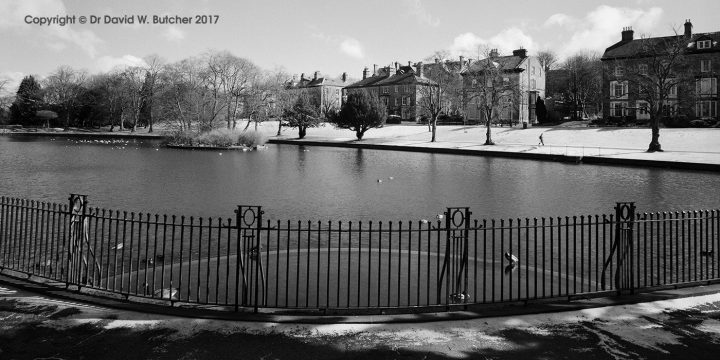 Buxton Broad Walk from Pavilion Gardens Lake, Peak District