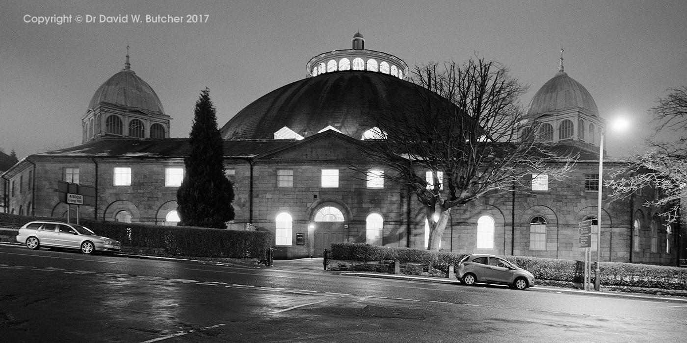 Buxton Devonshire Dome at Night, Peak District