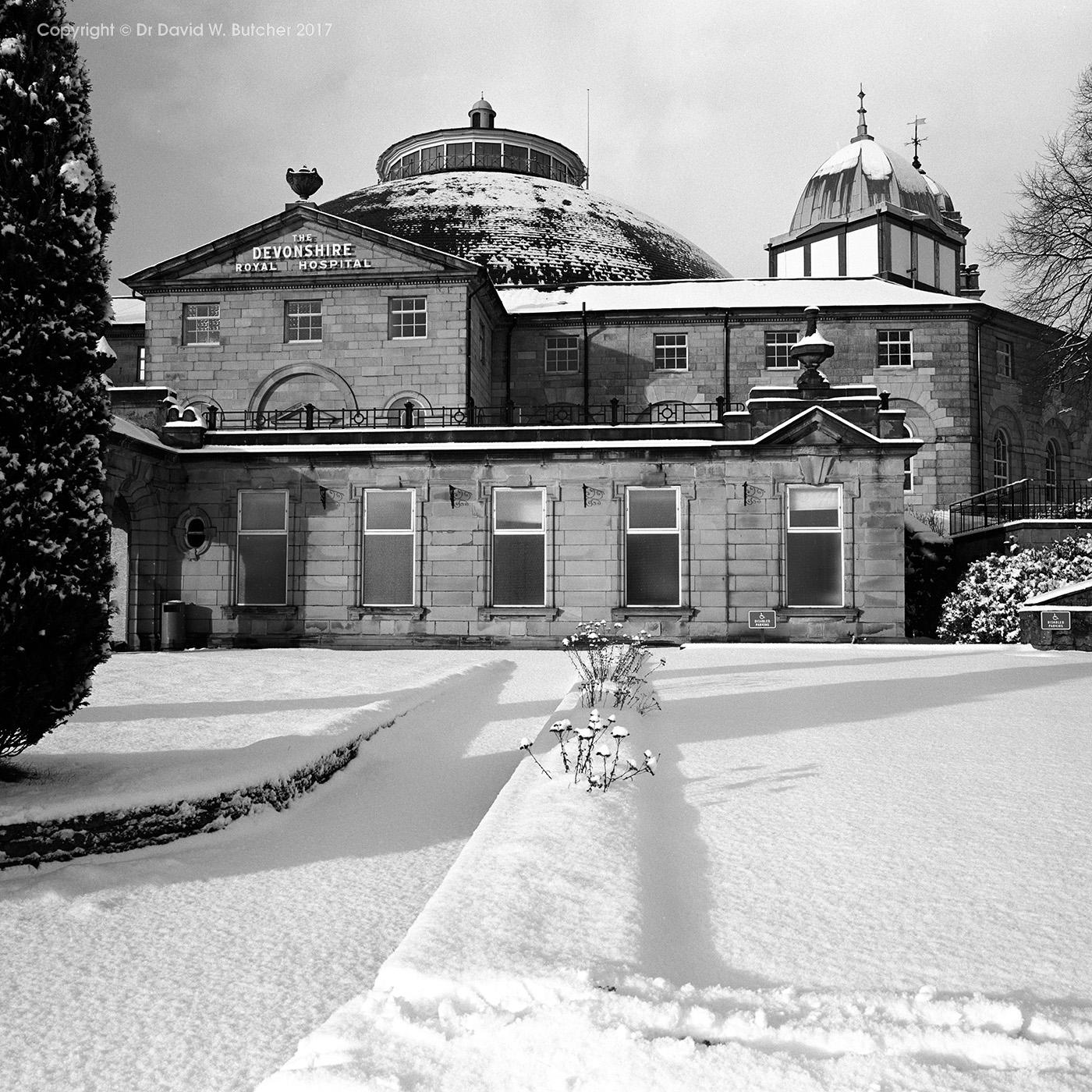 Buxton Devonshire Dome in Winter, Peak District