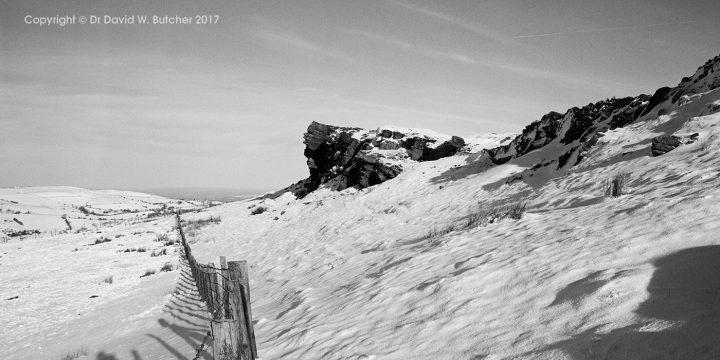 Windgather Rocks panoramic, Kettleshulme, Whaley Bridge, Peak District