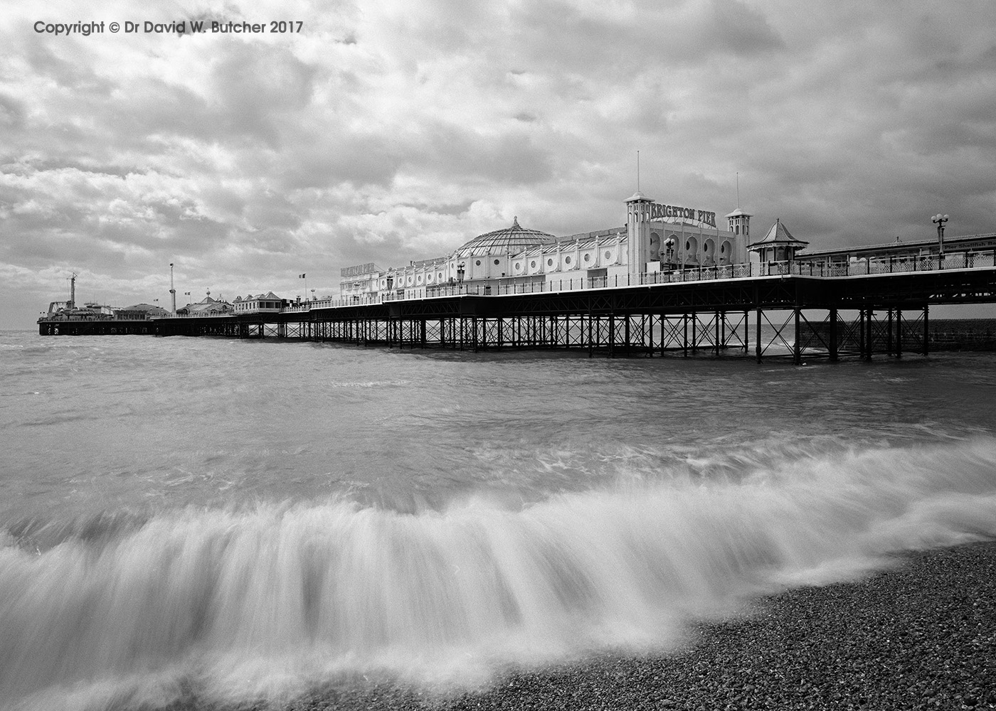 Brighton Pier and Waves, Sussex, England