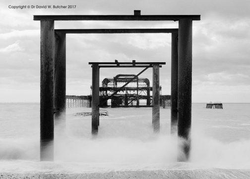Brighton West Pier Ruins, Sussex, England