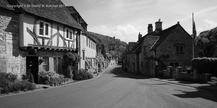Castle Combe Main Street from Market Cross
