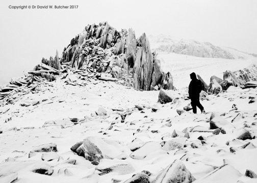 Castell y Gwynt in Winter, Snowdonia, Wales