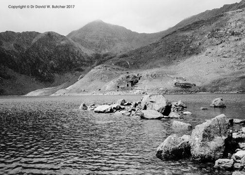 Snowdon from Llyn Llydaw, Snowdonia, Wales