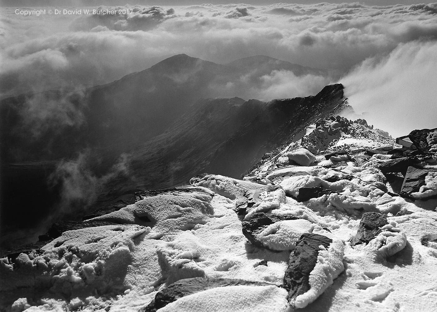 Yr Aran from Snowdon Summit, Snowdonia, Wales