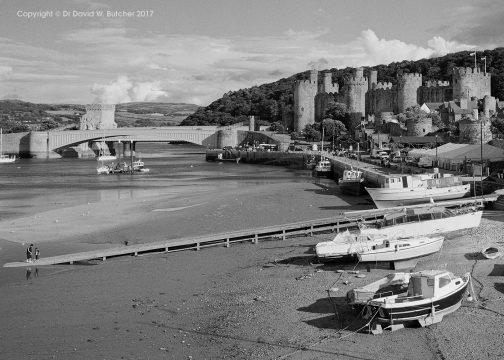 Conway Castle and Shoreline, Wales