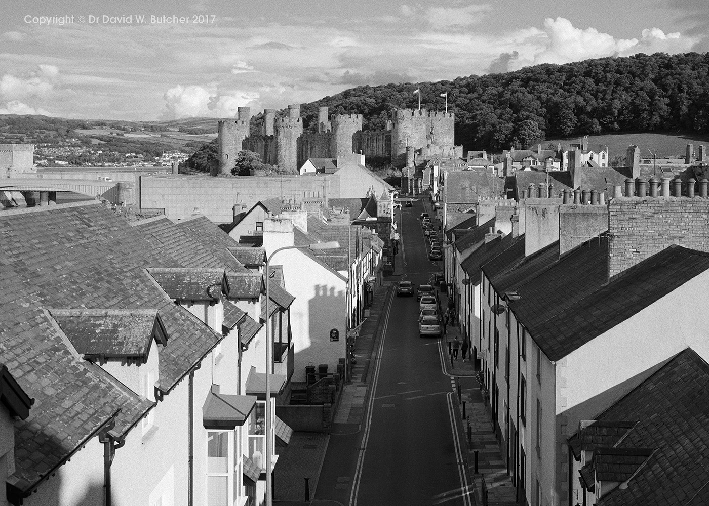 Conway Main Street and Castle, Wales