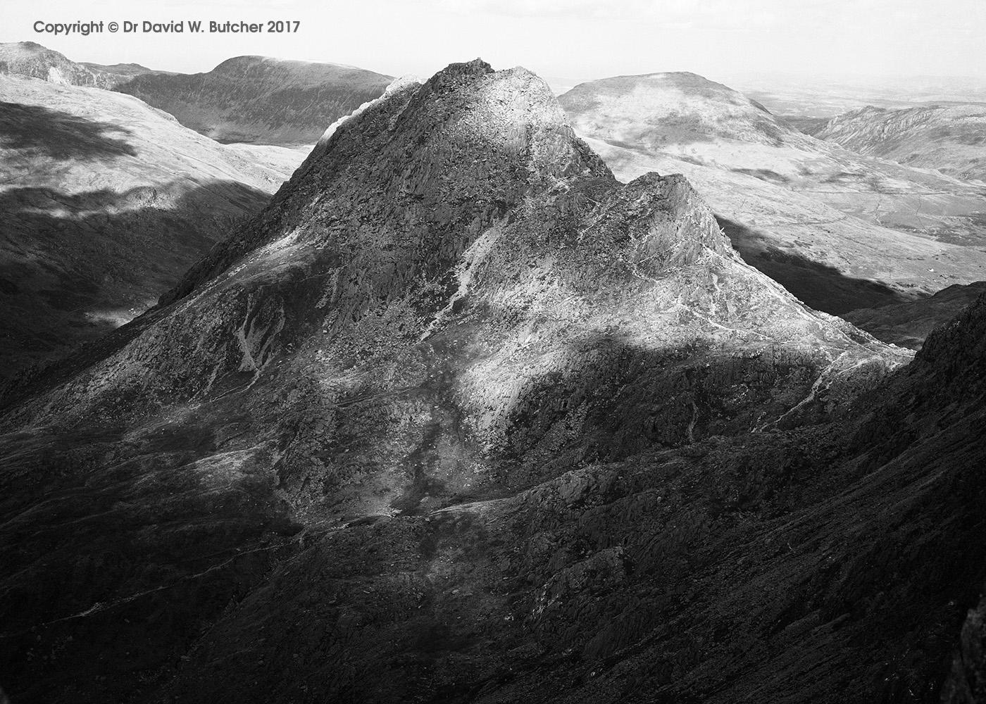 Tryfan from Glyder Fach, Bethesda, Snowdonia, Wales