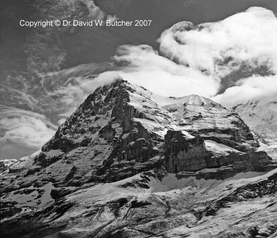 Alpine Pass Route Eiger from above Kleine Scheidegg