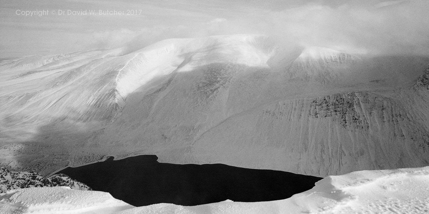 Cairngorms Cloudy Braeriach from Sgor Gaoith, Scotland