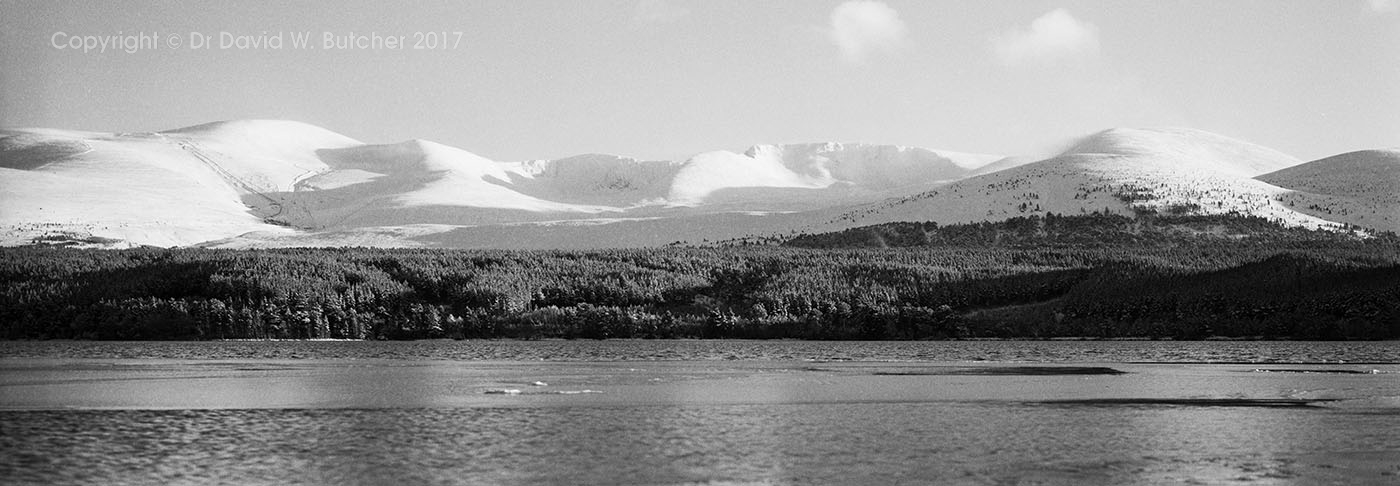 Cairngorms and Loch Morlich in Winter, Aviemore, Scotland