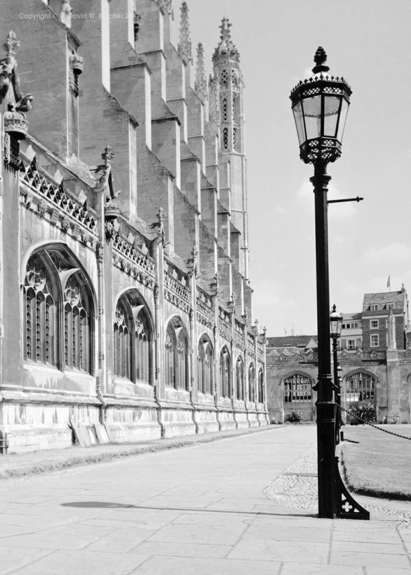 Cambridge King's College Chapel and Front Court, England