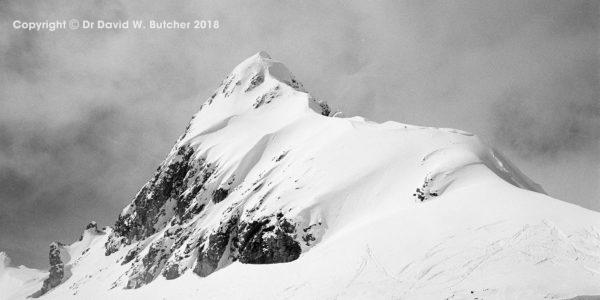 Austrian Tyrol mountain in winter near Ischgl by Dave Butcher