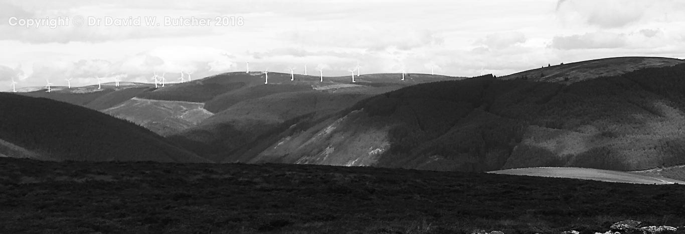 Wind farm view from Black Knowe near Peebles