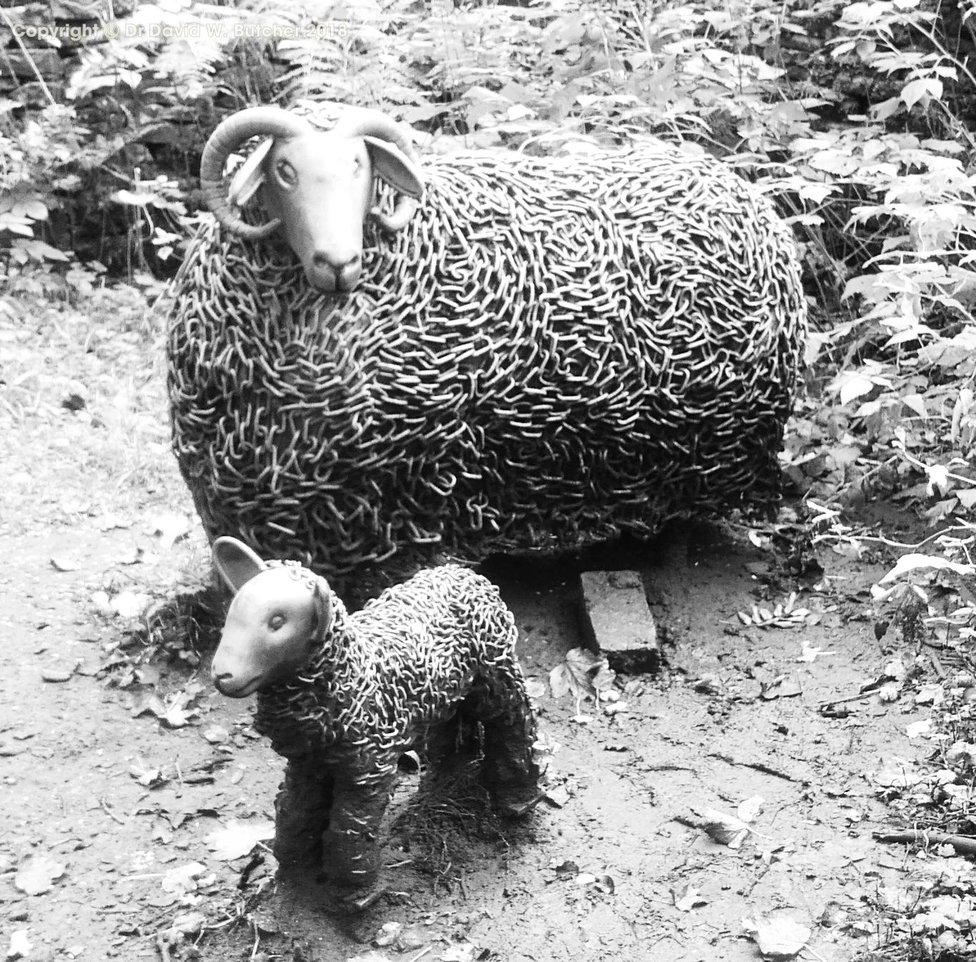 Marsden Tunnel End Steel Sheep Sculpture