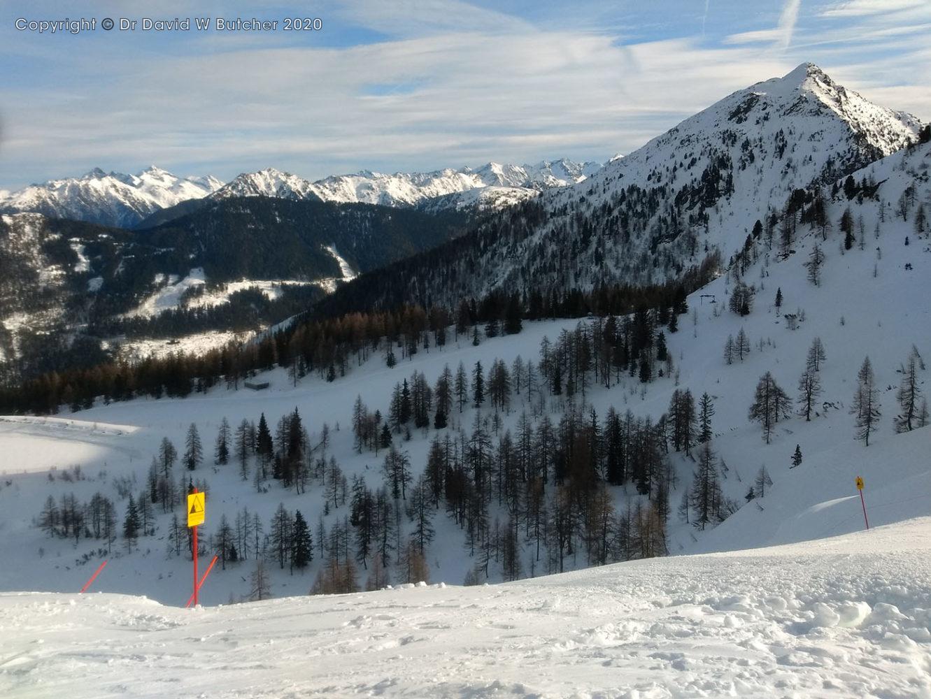 Schladming Reiteralm Bergstation Black Rose Ski Run with 41º slope