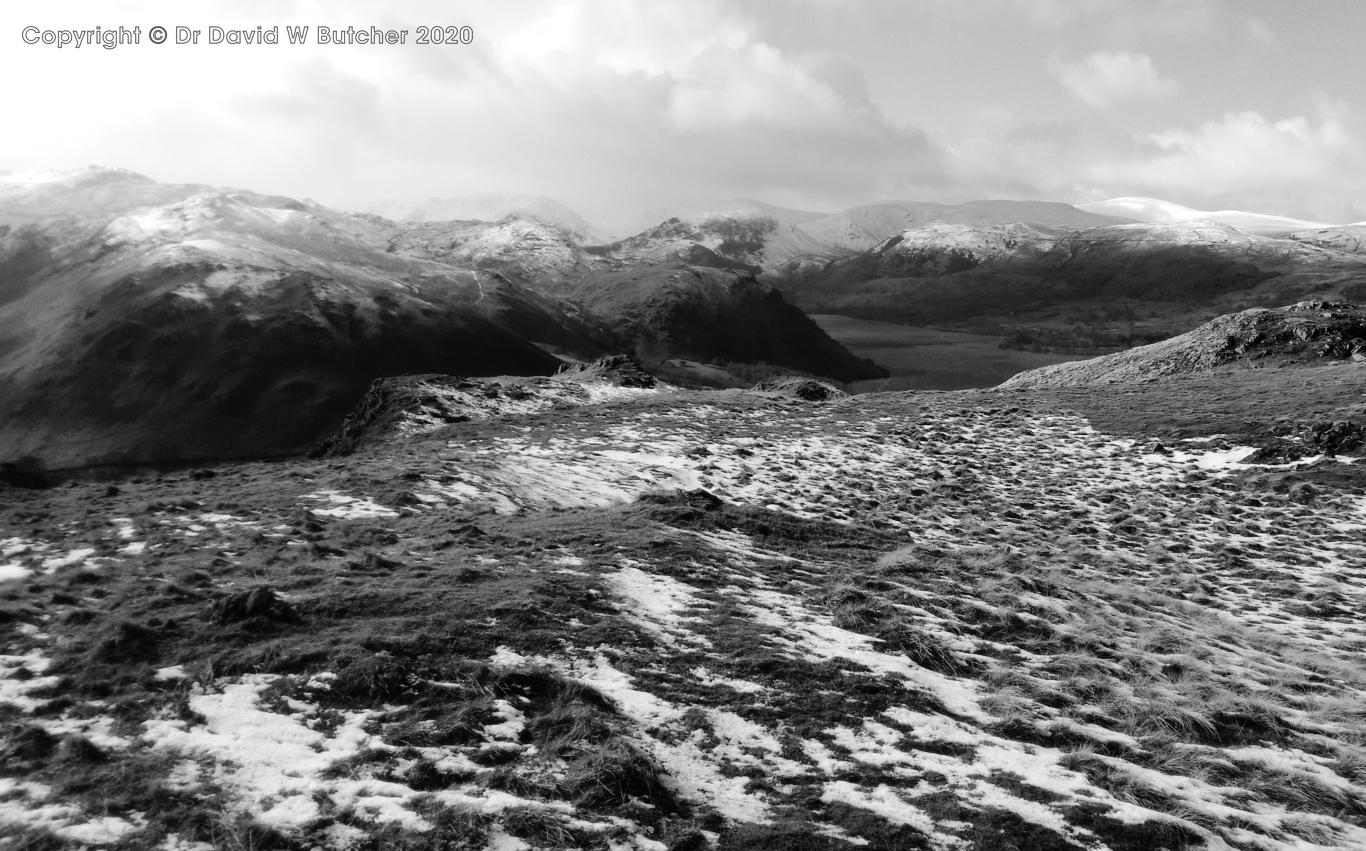 Helvellyn Range and Ullswater from Hallin Fell near Howtown