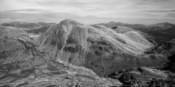 Great Gable from Scafell Pike, Wasdale, Lake District