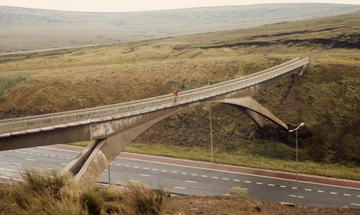 Pennine Way Footbridge Crossing M62 Motorway