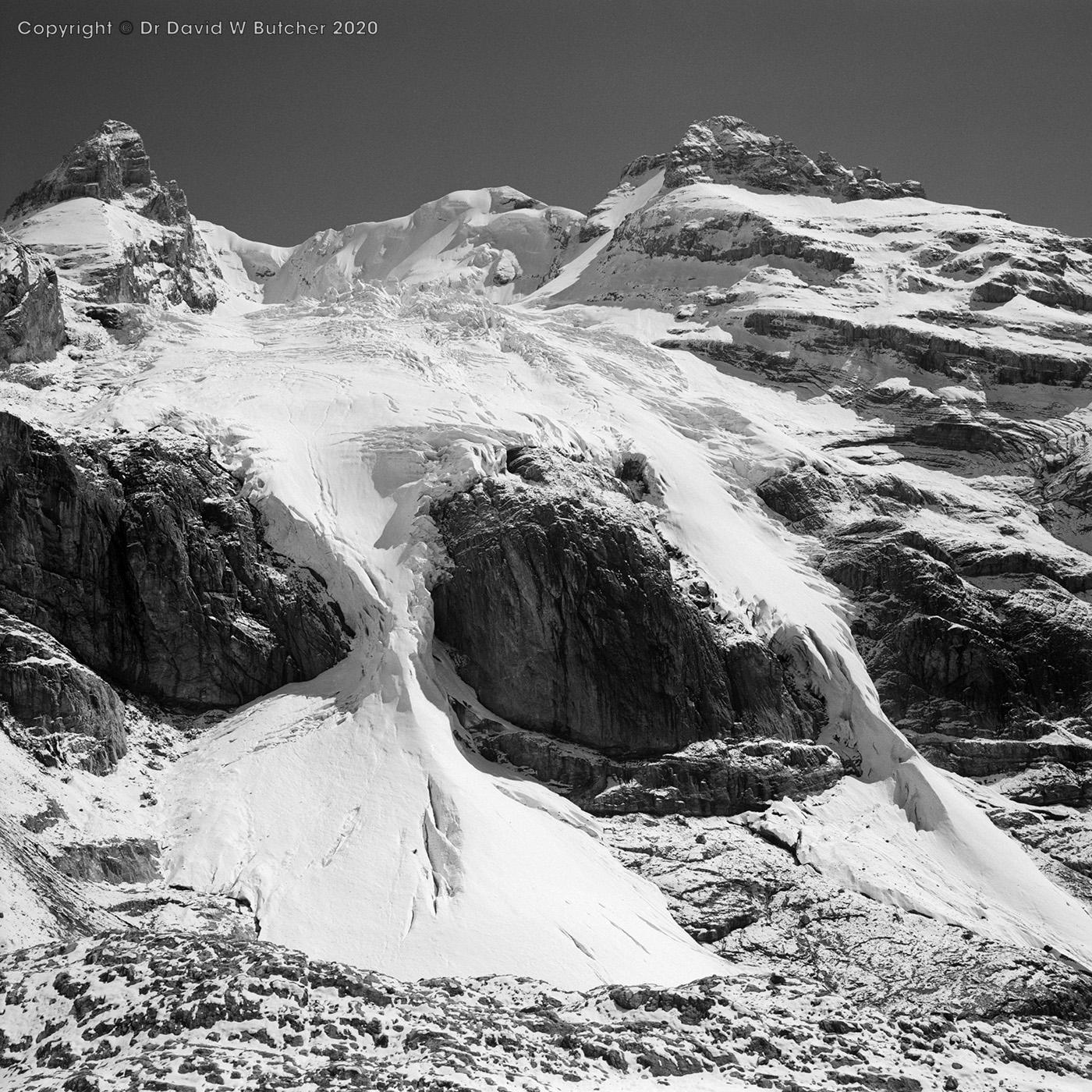 Kandersteg, Blumlisalphorn from Hohturli Descent, Switzerland