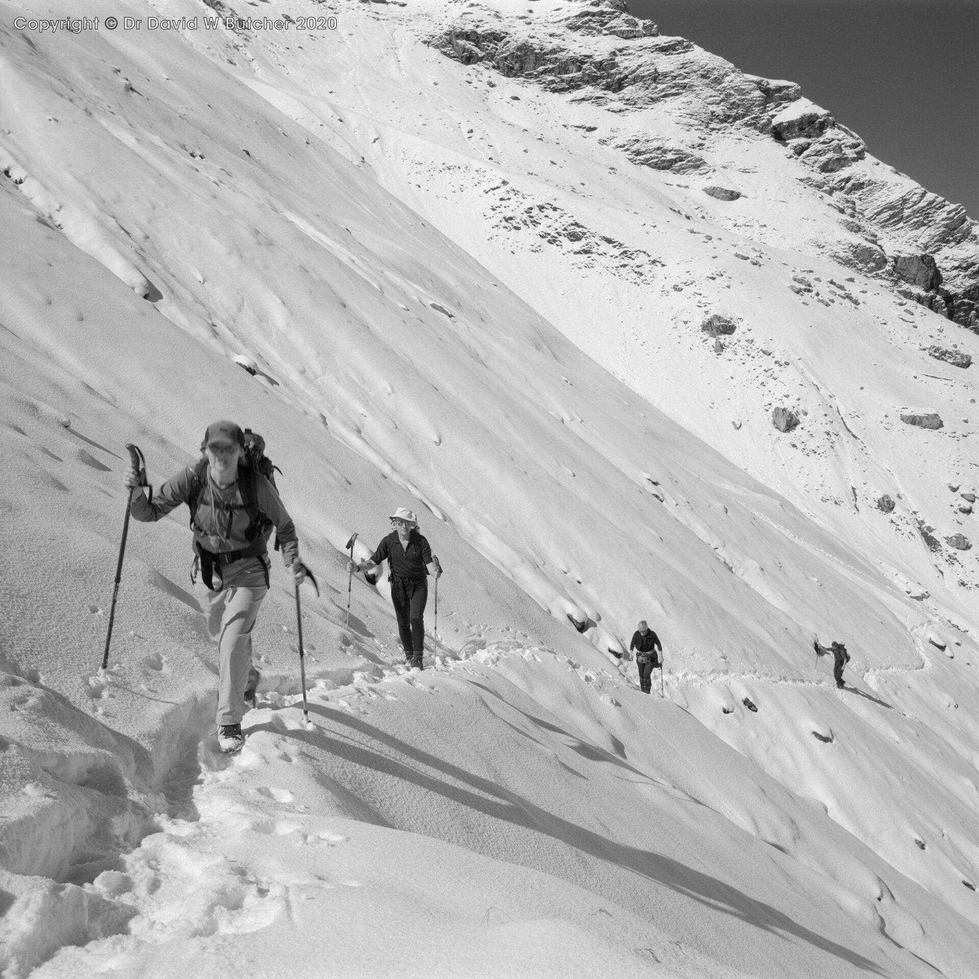 Kandersteg, Hohturli Ascent Jan, Phil, Annie, Rob, Switzerland