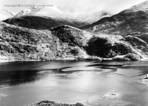 Sgurr na Sgine and Loch Hourn, Glen Shiel, Scotland