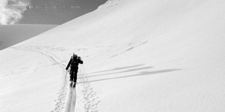 Crans Montana, Schwarzhorn Ascent Shadows, Switzerland