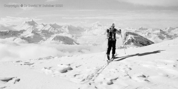 Crans Montana, Approaching Schwarzhorn Summit, Switzerland