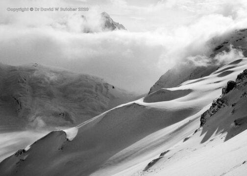 Crans Montana Schwarzhorn Ascent View East, Switzerland