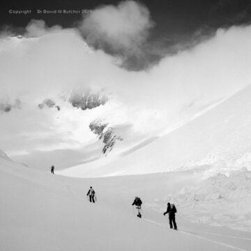 Crans Montana, Skiing Towards Mont Bonvin, Switzerland