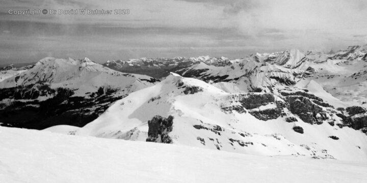 Sion, Wildhorn View to Schnidehorn and Beyond, Switzerland