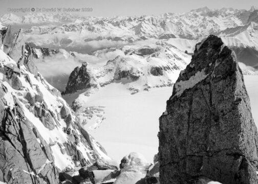 Trient, Aiguille du Tour View Northeast to Trient Glacier, Switzerland
