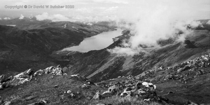 Loch Duich from 5 Sisters of Kintail Ridge, Glen Shiel, Scotland