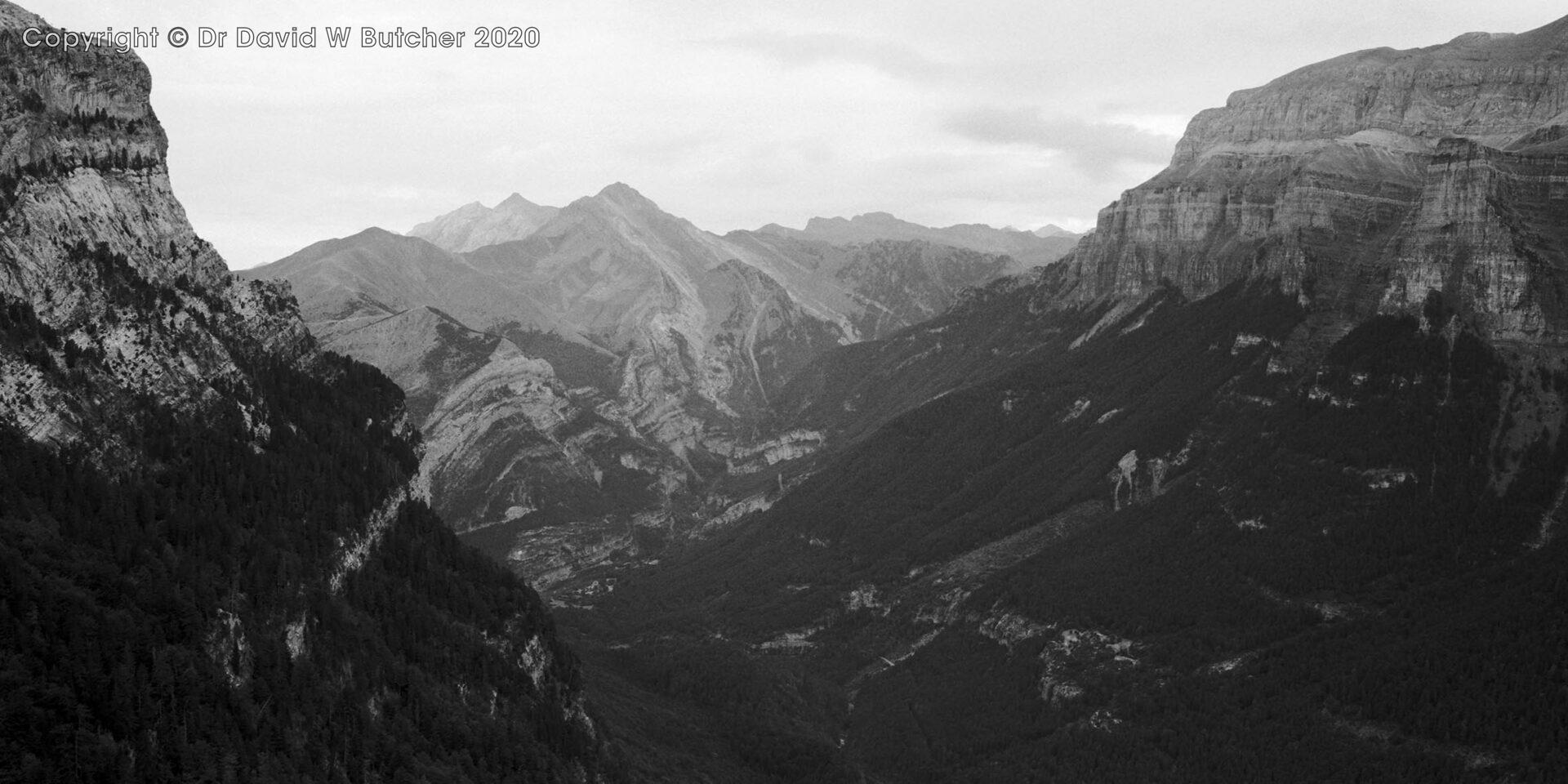 Ordesa Gorge View West, Torla, Pyrenees