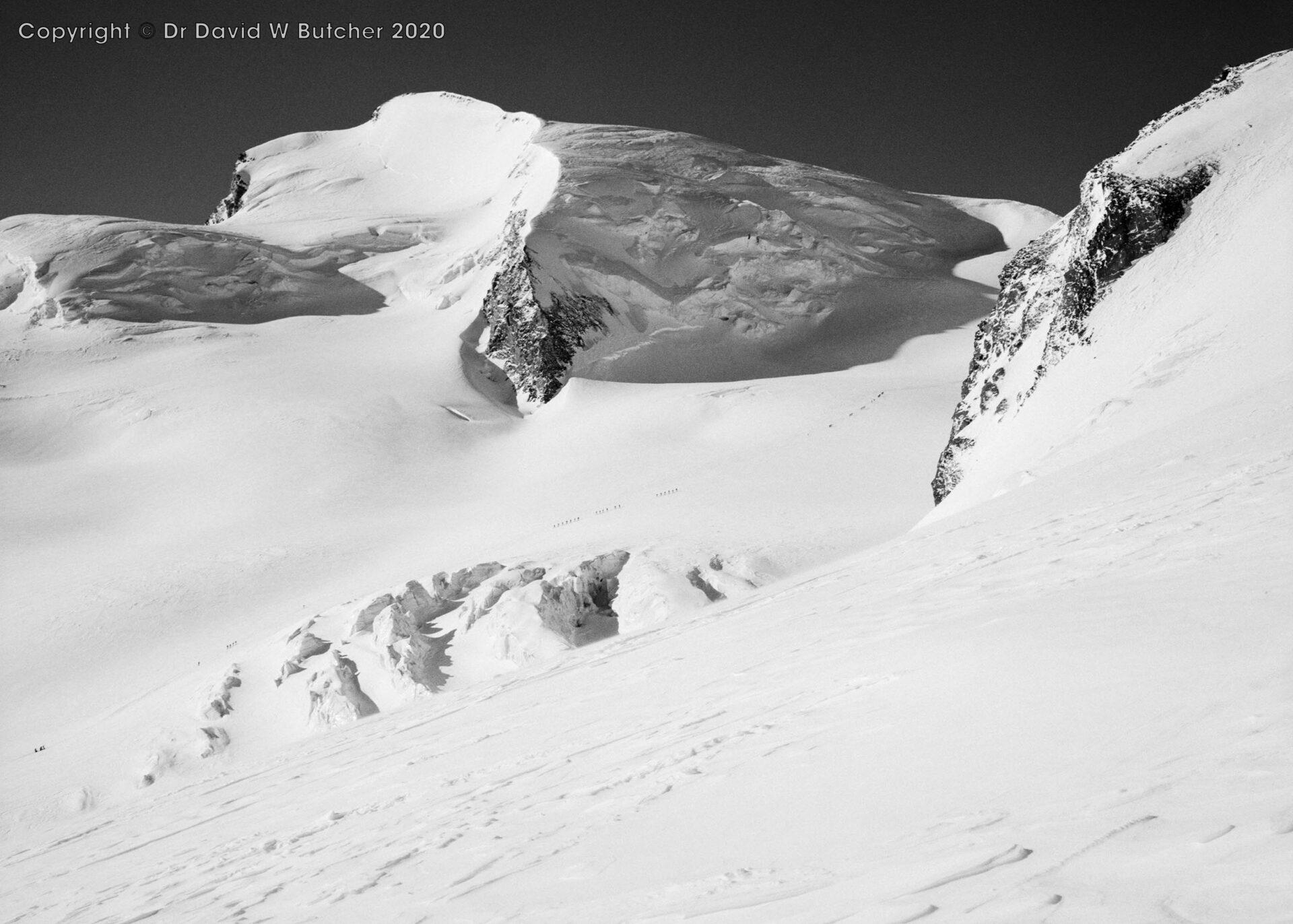 Saas Fee, Strahlhorn from Allalin Pass, Switzerland