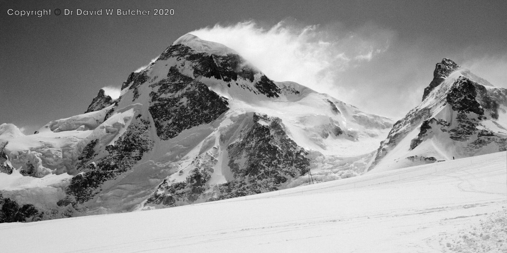 Breithorn and Klein Matterhorn, Zermatt, Switzerland