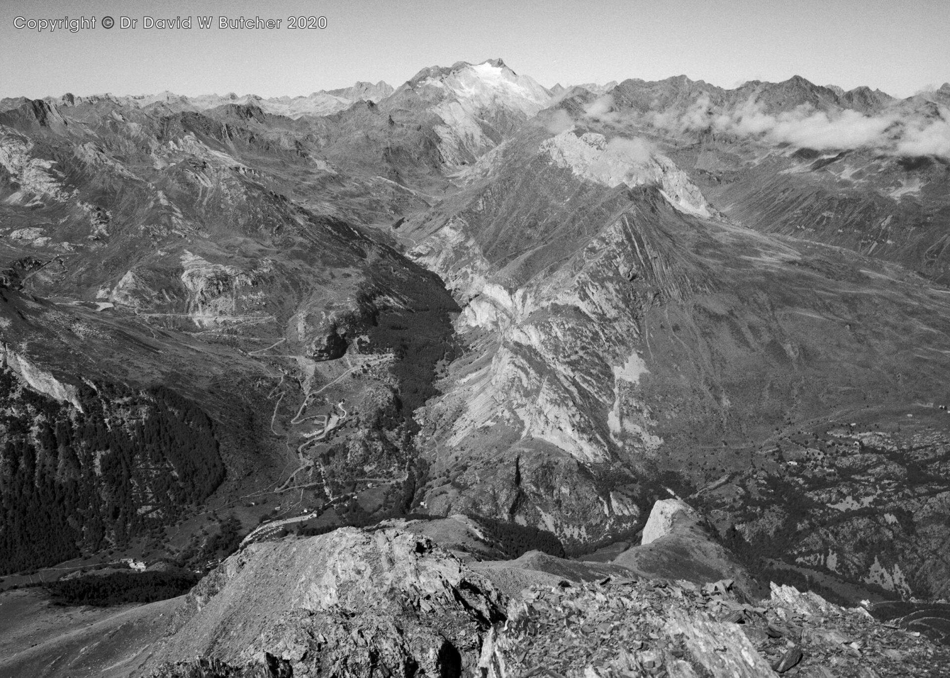 Vignemale from Pimene, Gavarnie, Pyrenees, France