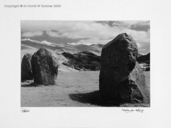 England, Lake District Helvellyn from Castlerigg Stone Circle