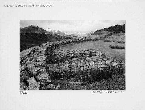England, Lake District Hardknott Roman Fort below Hardknott Pass, near Boot, Eskdale