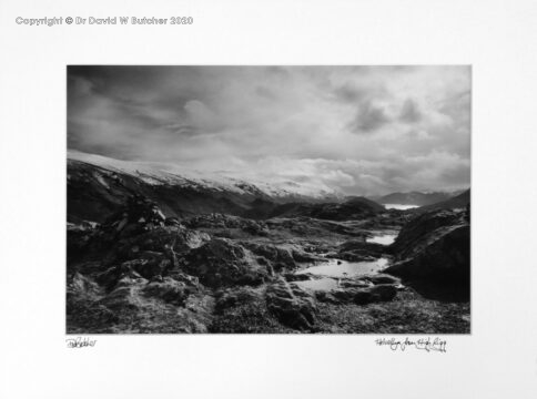 England, Lake District Helvellyn from High Rigg