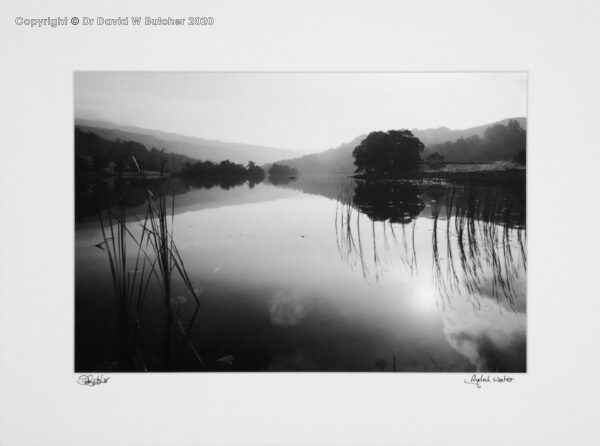 England, Lake District Rydal Water Reflections