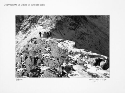 England, Lake District Striding Edge in Winter