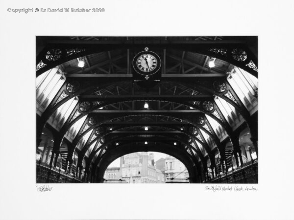 England, London Smithfield Market Clock and Roof