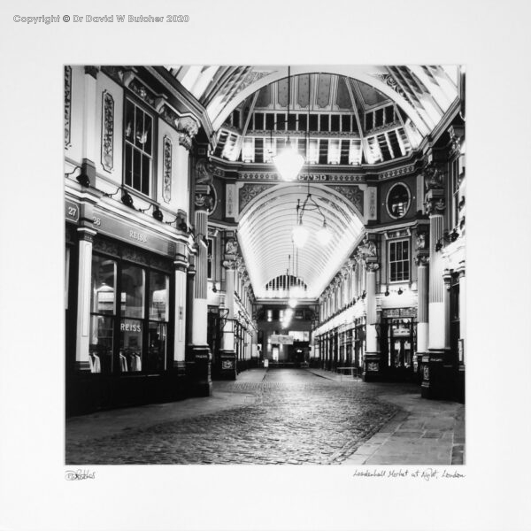 England, London Leadenhall Market at Night by Dave Butcher