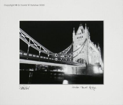 London Tower Bridge at Night by Dave Butcher