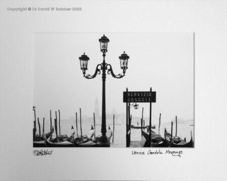 Italy, Venice Gondola Moorings near Piazza San Marco