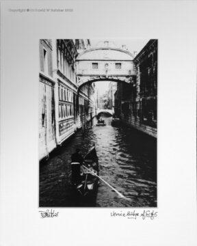 Italy, Venice Bridge of Sighs over Rio del Palazzo and Punt