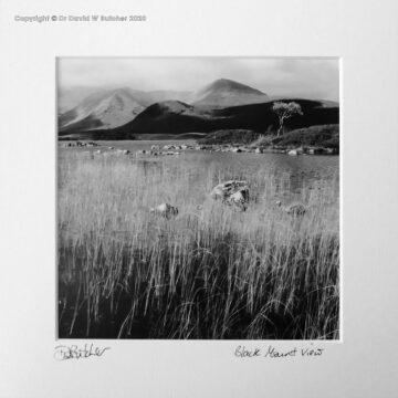 Scotland, Rannoch Moor Black Mount View between Bridge of Orchy and Glen Coe