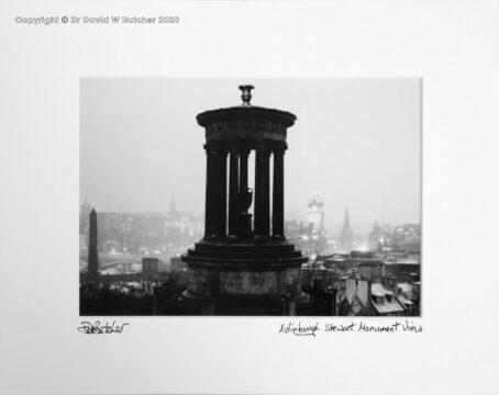 Scotland, Edinburgh Stewart Monument on Calton Hill at night